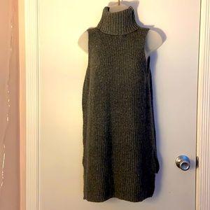 Merona Gray Chunky Sweater Sleeveless Turtleneck